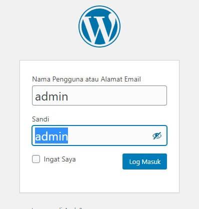 instal wordpress di localhost