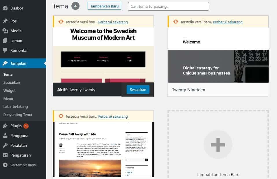 tema tutorial wordpress