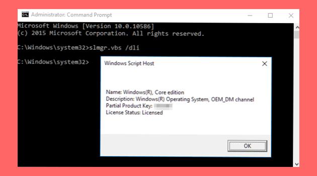 Membedakan Windows 10 Asli dan Bajakan menggunakan command prompt (CMD)