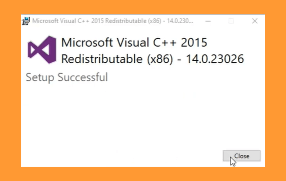 Mengatasi Entry Point Not Found melalui install visual C++